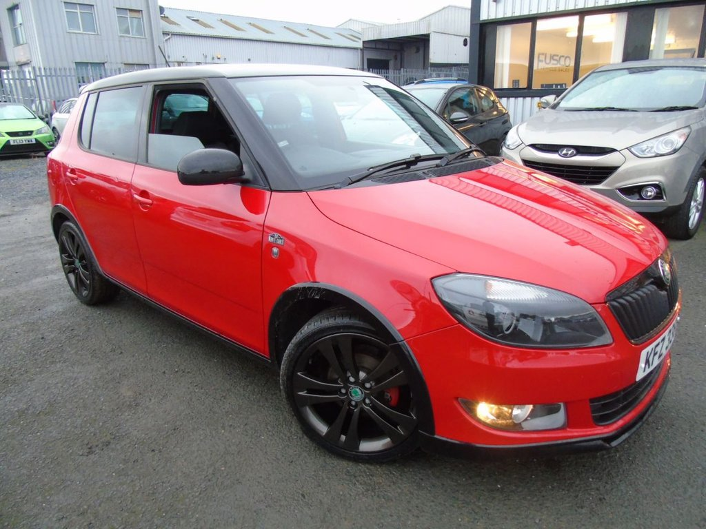 USED 2012 SKODA FABIA 1.2 MONTE CARLO 12V 5d 68 BHP £96 a month T&C'S apply.