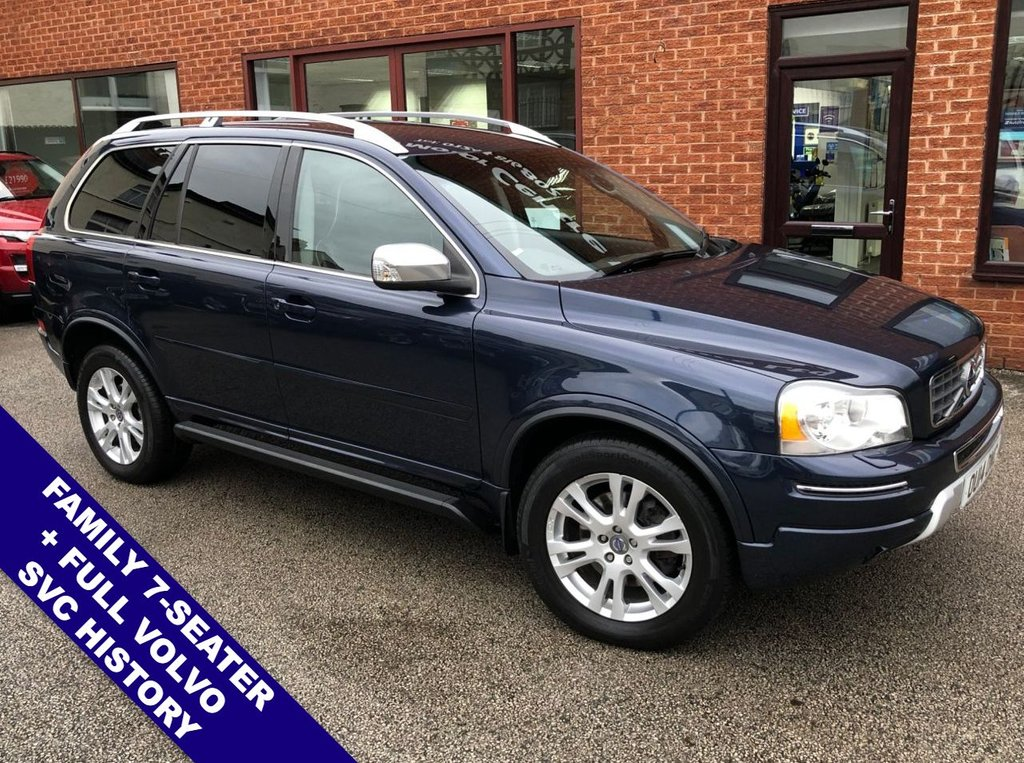 "USED 2014 14 VOLVO XC90 2.4 D5 SE LUX AWD 5DOOR 200 BHP Family 7-Seater   :   Sat Nav   :   AUX Socket   :   Cruise Control   :   Bluetooth Connectivity      Climate Control / Air Con   :   Heated & Electric Front Seats   :   Black Leather Upholstery               Rear Parking Sensors   :   18"" Alloy Wheels   :   Full Volvo Service History"