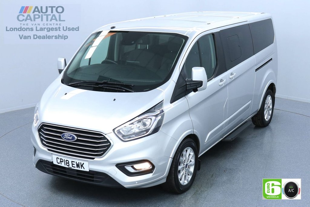 USED 2018 18 FORD TOURNEO CUSTOM 2.0 310 TITANIUM LIMITED LWB 129 BHP 9 SEATS MINIBUS 9 SEATS, AIR CON, PARKING SENSORS, ALLOY WHEEL, HEATED FRONT SEATS