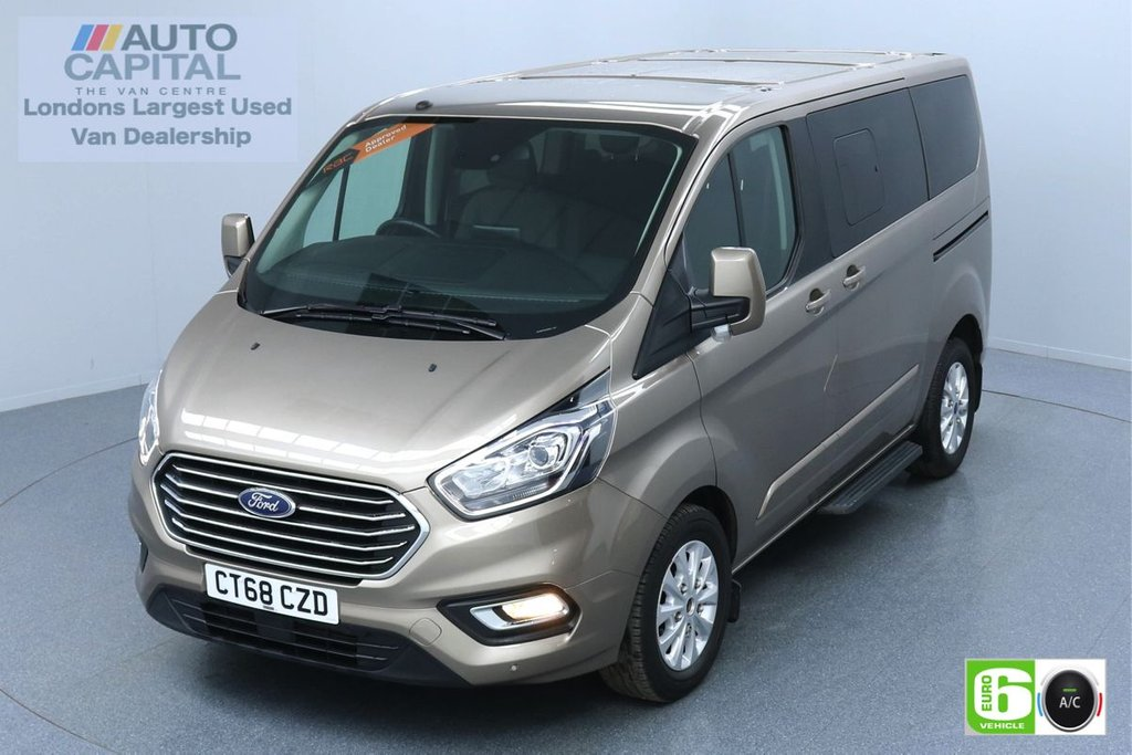 USED 2018 68 FORD TOURNEO CUSTOM 2.0 320 Titanium 130 BHP L1 Auto 8 Seats Minibus Euro 6 Low Emission Finance Packages Available | Air Con | Sensors | Alloy Wheels