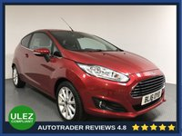 USED 2016 16 FORD FIESTA 1.6 TITANIUM 3d AUTO 104 BHP FULL FORD HISTORY - 1 OWNER - REAR SENSORS - LOW MILES - AIR CON - BLUETOOTH - DAB RADIO - CD PLAYER