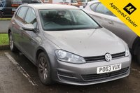 2013 VOLKSWAGEN GOLF 1.6 SE TDI BLUEMOTION TECHNOLOGY 5d 103 BHP IN GREY WITH 56000 MILES, 1 OWNER, FULL SERVICE HISTORY AND A GREAT SPEC INCLUDING DAB AND BLUETOOTH  £7799.00