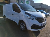 USED 2015 65 RENAULT TRAFIC 1.6 SL27 BUSINESS PLUS ENERGY DCI L1 H1 120 BHP A/C, BLUETOOTH, P/SENSORS, E/W, 6 MONTHS WARRANTY & FINANCE ARRANGED. 2 Services - Last service on 30.01.19 @ 66,804 miles, A/C, E/W, Bluetooth, media connectivity, DAB Radio, rear parking sensors, colour coded, Drivers airbag, factory fitted bulk head, Side loading door, 1 Owner, remote Central Locking, Drivers Airbag, Steering Column Radio Control, Side Loading Door, Barn Rear Doors, spare key, 6 months premium Autoguard warranty & finance arranged on site