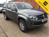 2011 VOLKSWAGEN AMAROK 2.0 DC TDI TRENDLINE 4MOTION 4d 161 BHP IN METALLIC GREY WITH A GREY CLOTH INTERIOR WITH A TRUCK-MAN REAR COVER IN IMMACULATE CONDITION WITH (NO VAT NO VAT.) £11499.00