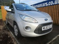 USED 2012 62 FORD KA 1.2 EDGE 3d 69 BHP FSH, £20 TAX, AUX INPUT