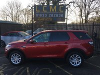 USED 2017 67 LAND ROVER DISCOVERY SPORT 2.0 TD4 SE TECH 5d 180 BHP STUNNING METALLIC FIRENZY RED PAINT WORK, PART EBONY LEATHER  BLACK CLOTH INTERIOR, SAT NAV, DAB RADIO, 8 INCH DISPLAY, A/C, ALLOY WHEELS, CRUISE, PARKING SENSORS, 1 OWNER, VERY CHEAP, 7 SEATER, LOW MILES