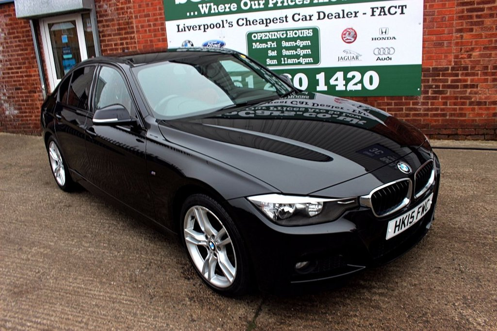 USED 2015 15 BMW 3 SERIES 2.0 318D M SPORT 4d 141 BHP +ONE OWNER +LEATHER +SAT NAV.