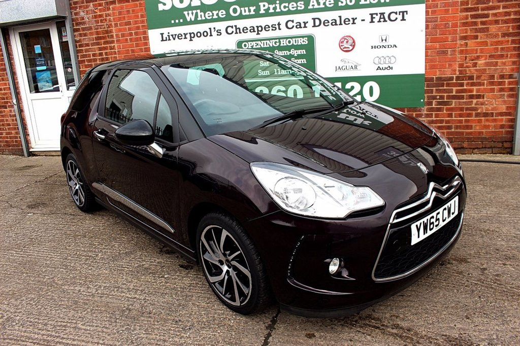 USED 2016 65 DS DS 3 1.2 PURETECH DSTYLE NAV S/S 3d 109 BHP +ONE OWNER +LOW MILES +SAT NAV