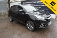 2014 HYUNDAI IX35 1.7 SE NAV CRDI 5d 114 BHP IN METALLIC BLACK WITH ONLY 37000 MILES, FULL SERVICE HISTORY AND A GREAT SPEC INCLUDING SAT NAV AND BLACK LEATHER  £8999.00