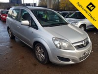 2013 VAUXHALL ZAFIRA 1.6 EXCLUSIV 5d 113 BHP IN SILVER WITH ONLY 55000 MILES, FULL SERVICE HISTORY AND ONLY 1 OWNER WITH A GREAT SPEC  £4999.00