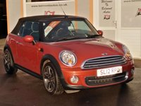 """USED 2012 12 MINI CONVERTIBLE 1.6 COOPER 2d 122 BHP 17"""" Alloys, 5 Service Stamps, Full Leather, Rear parking sensors, Bluetooth"""