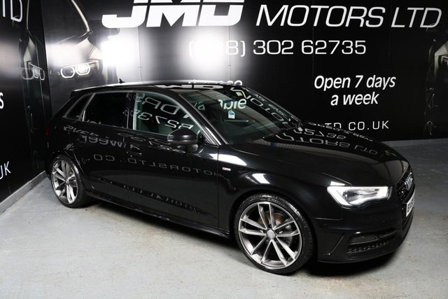 USED 2015 65 AUDI A3 LATE 2015 AUDI A3 2.0 TDI S LINE BLACK EDITION STYLE 5d 148 BHP (FINANCE AND WARRANTY)