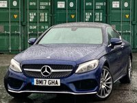 USED 2017 17 MERCEDES-BENZ C-CLASS 2.0 C200 AMG Line (Premium) G-Tronic+ 4MATIC (s/s) 2dr PanRoof/ArticoLeather/RearCam