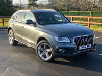 "USED 2012 62 AUDI Q5 2.0 TDI QUATTRO S LINE PLUS 5d 175 BHP FULL SERVICE HISTORY, S-TRONIC, FULL LEATHER, HEATED FRONT SEATS, SATELLITE NAVIGATION, BLUETOOTH, CRUISE CONTROL, DAB RADIO, 20"" ALLOYS,  HILL DECENT, REAR PARKING SENSORS, POWERED TAILGATE, AUTO LIGHTS,"