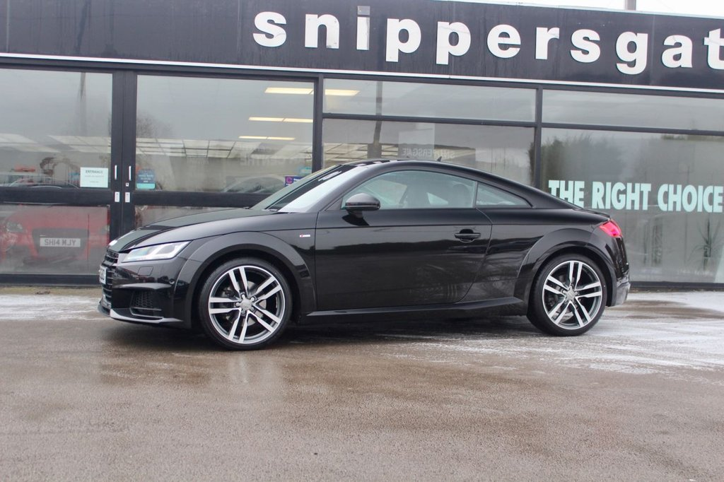 USED 2016 16 AUDI TT 2.0 TFSI QUATTRO S LINE 2d 227 BHP High factory Specification Methos Black Metallic TT Quattro S Line, Bang & Olfsen Sound System, Navigation System High, Bluetooth Interface, Parking System Plus, Audi Matrix LED Headlights, LED Rear Lights, Light and Rain Sensors, Delux Automatic Air Conditioning With Integrated Display, Auto Dimming Rear View Mirror, Audi Connect Infotainment Services, Audi Music Interface, Headlight Washers, Wind Screen Sun Band, 2 Keys and Book Pack, Full Audi Service History.