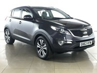 USED 2013 63 KIA SPORTAGE 2.0 CRDI KX-3 SAT NAV 5d 134 BHP SAT NAV | PAN ROOF | LEATHER |