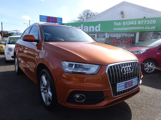 USED 2013 62 AUDI Q3 2.0 TDI S LINE 5d 138 BHP **  JUST ARRIVED ** CALL 01543 877320**