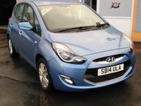 USED 2014 14 HYUNDAI IX20 1.6 CRDI ACTIVE BLUE DRIVE 5d 113 BHP 16 inch Alloys, Bluetooth, Parking Sensors, Air Conditioning