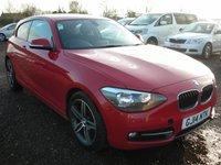 2014 BMW 1 SERIES 2.0 116D SPORT 3d 114 BHP SOLD