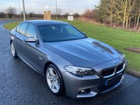 "USED 2015 15 BMW 5 SERIES 3.0 535D M SPORT 4d 309 BHP AUTO SAT NAV, LEATHER, 19"" ALLOYS"