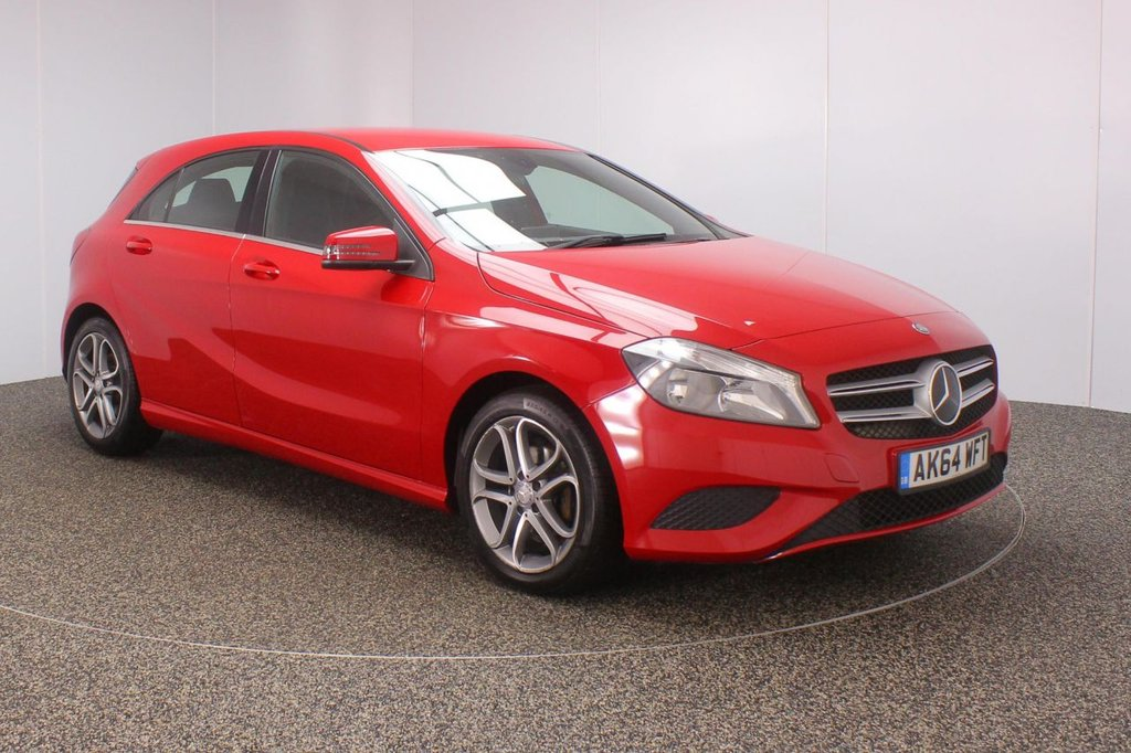 USED 2014 64 MERCEDES-BENZ A CLASS 1.5 A180 CDI BLUEEFFICIENCY SPORT 5DR 109 BHP SAT NAV 1 OWNER SERVICE HISTORY + HALF LEATHER SEATS + SATELLITE NAVIGATION + BLUETOOTH + CRUISE CONTROL + MULTI FUNCTION WHEEL + AIR CONDITIONING + DAB RADIO + AIR CONDITIONING + RADIO/CD/AUX/USB + ELECTRIC WINDOWS + ELECTRIC/HEATED MIRRORS + 17 INCH ALLOY WHEELS