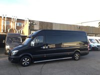 USED 2015 15 MERCEDES-BENZ SPRINTER 2.1 313CDI LWB HIGH ROOF 130BHP BLACK. ALLOYS. STEPS. FINANCE BLACK. ALLOYS. F/S/H. FINANCE. IDEAL CAMPER. PX WELCOME
