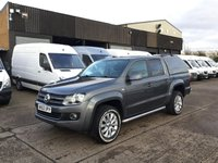 USED 2012 62 VOLKSWAGEN AMAROK 2.0TDI DC HIGHLINE 4MOTION 163BHP. LOW 87K. FINANCE. PX SATNAV. LEATHER. LOW 87K MILES. FINNACE. PX POSS