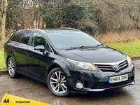 USED 2015 64 TOYOTA AVENSIS 2.0 D-4D ICON BUSINESS EDITION 5d 124 BHP FULL TOUCH SCREEN SAT NAV, ALLOYS