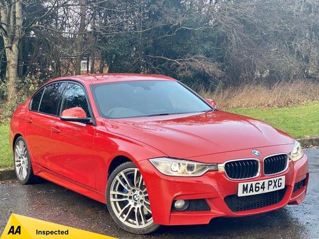 USED 2014 64 BMW 3 SERIES 2.0 318D M SPORT 4d 141 BHP FULL HEATED LEATHER INTERIOR, SAT NAV