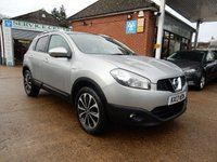 USED 2013 13 NISSAN QASHQAI 1.6 N-TEC PLUS 5d 117 BHP FULL HISTORY,SAT NAV,TWO KEYS,360 CAMERA,CRUISE,USB AND AUX