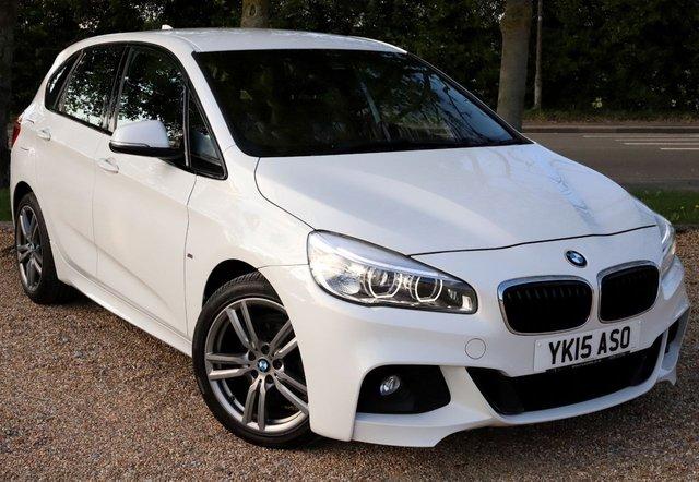 2015 15 BMW 2 SERIES 2.0 218D M SPORT ACTIVE TOURER 5d 148 BHP/ SAT NAV/ PARKING SENSORS/ 18'IN M SPORT ALLOYS/ XENONS/ LEATHER TRIM/ REVERSING CAMERA