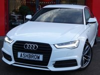 USED 2015 65 AUDI A6 SALOON 2.0 TDI ULTRA BLACK EDITION 4d AUTO 190 S/S UPGRADE 20 INCH TWIN 5 SPOKE ALLOYS, UPGRADE ELECTRIC FOLDING HEATED MIRRORS, SAT NAV, FULL BLACK LEATHER, BOSE, DAB RADIO, BLUETOOTH PHONE & MUSIC STREAMING, AUDI MUSIC INTERFACE, FRONT & REAR PARKING SENSORS WITH DISPLAY, LED HEADLIGHTS, PRIVACY GLASS, CRUISE CONTROL, LIGHT & RAIN SENSORS WITH AUTO DIMMING REAR VIEW, AUTO HOLD, LEATHER MULTIFUNCTION TIPTRONIC STEERING WHEEL, ELECTRONIC 4 ZONE CLIMATE, DRIVE SELECT, 1 OWNER FROM NEW, SERVICE HISTORY, £30 ROAD TAX (116 G/KM), VAT QUALIFYING
