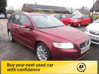 USED 2010 60 VOLVO V50 1.6 D DRIVE SE LUX 5d 109 BHP FULL SERVICE HISTORY FULL LEATHER