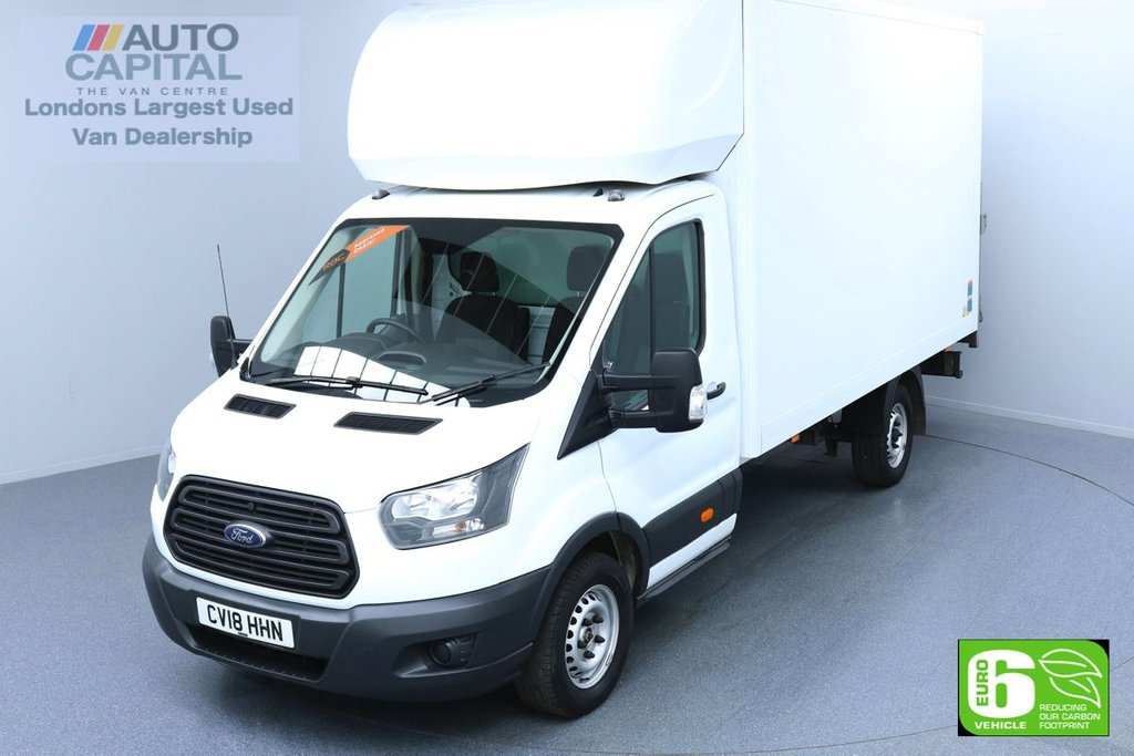 USED 2018 18 FORD TRANSIT 2.0 350 129 BHP L4 XLWB EURO 6 ENGINE LUTON  REAR TAIL LIFT FITTED