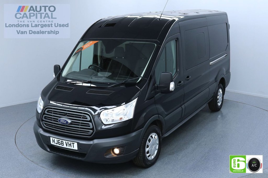 USED 2018 68 FORD TRANSIT 2.0 350 TREND L3 H2 129 BHP 6 SEATS COMBI VAN EURO 6 AIR CON, FRONT- REAR PARKING SENSORS