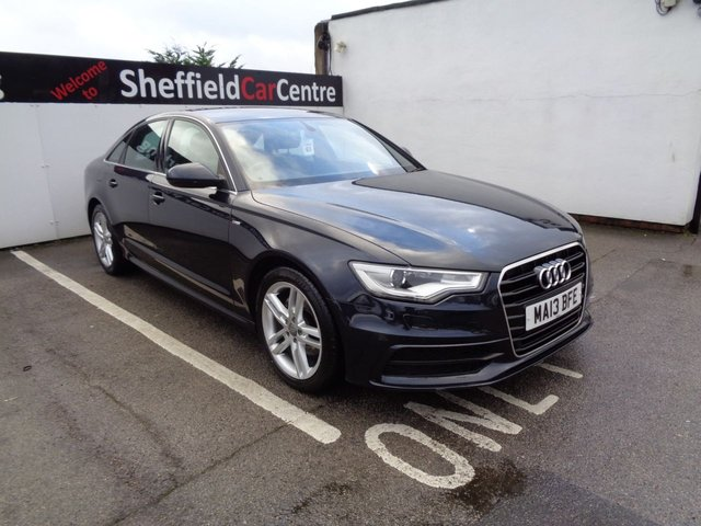 USED 2013 13 AUDI A6 2.0 TDI S LINE 4d 175 BHP Automatic Satellite navigation bluetooth full leather cruise control attractive prestige car in sought after colour supplied with service and mot