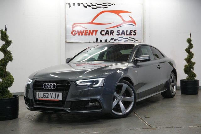 USED 2012 62 AUDI A5 2.0 TDI BLACK EDITION 2d 177 BHP CLEAN EXAMPLE, LONG MOT, LEATHER