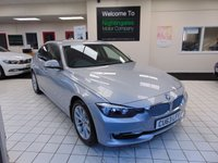 "USED 2013 63 BMW 3 SERIES 2.0 318D MODERN 4d 141 BHP SERVICE HISTORY + OCTOBER 2020 MOT + BLUETOOTH + CRUISE CONTROL + AIR CONDITIONING + HALF LEATHER TRIM + HEATED FRONT SEATS + ELECTRIC WINDOWS + REMOTE CENTRAL LOCKING + 17"" ALLOYS + LOW MILES + LOW CAR TAX"