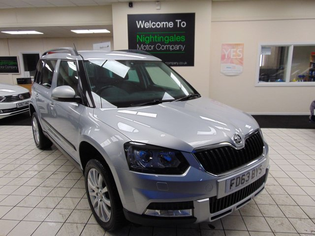 USED 2014 63 SKODA YETI 2.0 OUTDOOR ELEGANCE TDI CR 5d 138 BHP FULL SKODA HISTORY + FULL MOT + DAYTIME RUNNING LIGHT + BLUETOOTH + FULL LEATHER TRIM + HEATED FRONT SEATS + ROOF RAILS + 4 WHEEL DRIVE +CD/RADIO + REMOTE CENTRAL LOCKING + ELECTRIC WINDOWS
