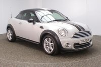 USED 2013 62 MINI COUPE 1.6 COOPER 2DR 120 BHP SERVICE HISTORY + HALF LEATHER SEATS + PARKING SENSOR + BLUETOOTH + CLIMATE CONTROL + MULTI FUNCTION WHEEL + DAB RADIO + ELECTRIC WINDOWS + RADIO/CD/AUX/USB + ELECTRIC/HEATED DOOR MIRRORS + 16 INCH ALLOY WHEELS