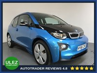 USED 2016 66 BMW I3  E 94 Ah 5dr AUTO 168 BHP FULL SERVICE HISTORY - 1 OWNER - SAT NAV - PARKING SENSORS - AIR CON - BLUETOOTH - DAB - CRUISE - HEATED SEATS
