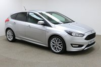 USED 2017 67 FORD FOCUS 1.0 ST-LINE 5d 124 BHP Finished in stunning metallic Moondust Silver + 18 inch alloys + black cloth interior + PRIVACY GLASS + SAT NAV + BLUETOOTH + DAB RADIO + IN CAR ENTERTAINMENT - CD / USB + START / STOP + AIR CON + MULTI FUNCTION STEERING WHEEL + ELECTRIC MIRRORS + ELECTRIC WINDOWS + ULEZ EXEMPT + FULL SERVICE HISTORY