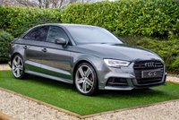 USED 2019 19 AUDI A3 S3 TFSI QUATTRO 4d 296 BHP A High Spec Black Edition with Outstanding Performance and a Huge List of Impressive Features. Presented in Daytona Grey Mettalic with a Panoramic Glass Sunroof, 19 Inch Alloy Wheels and a Luxury Black Quilted Leather Interior. Features Include Audi's Virtual Cockpit with Full Screen Satellite Navigation, Heated Supersport Seats with Contrast Silver Stitch, Apple Car Play with Audi Juke Box, Tech Pack with Big Screen MMI, Front & Rear Park Distance Control, Bluetooth, Exterior Black Pack