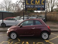 USED 2017 17 FIAT 500 1.2 LOUNGE 3d 69 BHP FIAT SERVICE HISTORY, STUNNING AVANTGARDE BORDEAUX RED METALLIC WITH GREY TARTAN CLOTH UPHOLSTERY. ONLY ONE OWNER FROM NEW. GLASS SUNROOF. CRUISE CONTROL. MULTI SPOKE ALLOY WHEELS. TOUCH SCREEN MEDIA SCREEN. AIR CONDITIONING. ELECTRIC WINDOWS. REMOTE CENTRAL LOCKING. PLEASE GOTO www.lowcostmotorcompany.co.uk TO VIEW OVER 120 CARS IN STOCK.