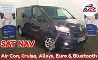 2016 RENAULT TRAFIC 1.6 SL27 SPORT NAV DCI 120 BHP Euro 6 with Ad Blu, One Owner from New, SATNAV, Cruise Control, Bluetooth Connectivity, Air Con, Alloy Wheels and much more £9980.00