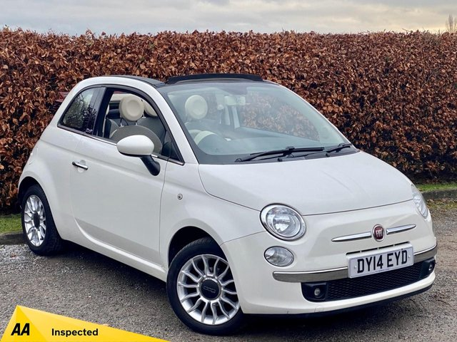 USED 2014 14 FIAT 500 1.2 C LOUNGE 3d CONVERTIBLE, BLUETOOTH