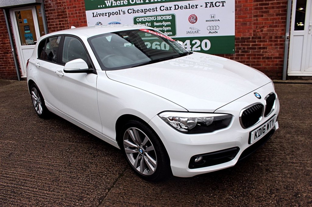 USED 2016 16 BMW 1 SERIES 1.5 116D SPORT 5d 114 BHP +ONE OWNER +LOW TAX +SAT NAV.