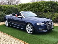 USED 2013 13 AUDI A5 3.0 S5 TFSI QUATTRO S/S 2d 333 BHP A Fine Example with Quattro All Wheel Drive and a 333 BHP Supercharged 3.0-liter V6 Engine which has been Meticulously Maintained with a Detailed Full Service History. Finished in Metallic Blue with Black / Red 2 Tone Heated Electric Leather, MMI Satellite Navigation + Bang & Olufsen Premium Sound + AMI Audi Music Interface + Jukebox + DAB Radio + Bluetooth Connectivity, Automatic Bi-Xenon Headlights + Power Wash, 18 Inch Alloy Wheels, Front and Rear Park Distance Control, Leather Multi Func