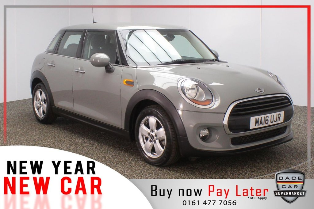 USED 2016 16 MINI HATCH ONE 1.2 ONE 5DR PAPPER PACK 101 BHP 1 OWNER  FULL MINI SERVICE HISTORY + BLUETOOTH + CLIMATE CONTROL + DAB RADIO + ELECTRIC WINDOWS + RADIO/AUX/USB + ELECTRIC MIRRORS + 15 INCH ALLOY WHEELS
