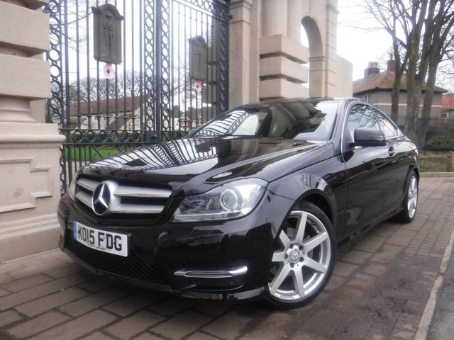 USED 2015 15 MERCEDES-BENZ C CLASS 2.1 C220 CDI AMG SPORT EDITION PREMIUM 2d 168 BHP *** FINANCE & PART EXCHANGE WELCOME *** AUTOMATIC & PADDLE SHIFT  SAT/NAV REVERSE CAMERA HALF LEATHER INTERIOR HEATED SEATS BLUETOOTH PHONE PARKING SENSORS DAB RADIO CRUISE CONTROL
